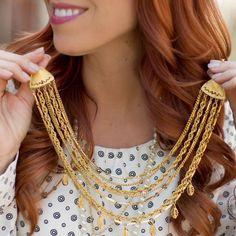 Vintage Multi-Chain Bib Necklace – CS Gems