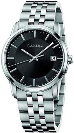 e6c782b016 New Calvin Klein Infinite Black Dial Stainless Steel Men s Watch K5S31141  online