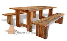 """Reclaimed Wood Furniture Environmentally-Friendly Beauty """" In the world of interior design options, one of the hottest new trends is furniture made from… """" View Post Furniture Board, Furniture Making, Dining Set, Dining Bench, Reclaimed Wood Furniture, World Of Interiors, Recycled Wood, Minimalist Home, Interior Design"""