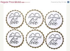 ON SALE handmade with love sticker sealproduct by JDooreCreations