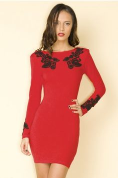Little Red Dress that I would KILL to have, gah!!  So fabulous!