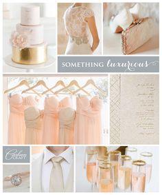 Planning a spring wedding? So soft and romantic #romantic, #blushgold www.poshweddinginvitations.com