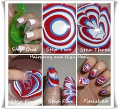 "Hairspray and High Heels: ""A Jersey Girl's Guide to Beauty"": 4th Of July Nails Four Ways"