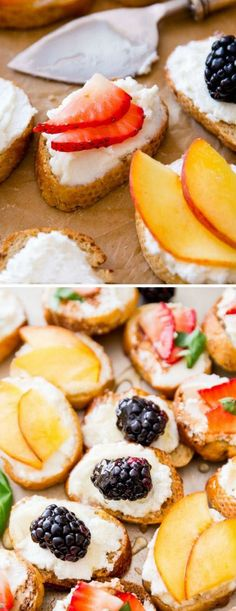 Goat Cheese, Honey, & Fruit Crostini
