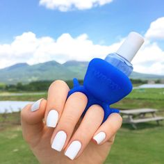 Blue skies ahead. Staying positive!  <3 Tweexy Sapphire Blue http://www.secretfashionfixes.com/p/tweexy-sapphire-blue---the-original-wearable-nail-polish-bottle-holder/tweexyblue