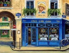 Paris Painting - Caf