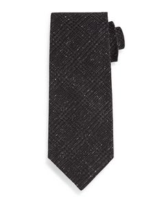 Houndstooth+Plaid+Tie,+Black+by+TOM+FORD+at+Neiman+Marcus.