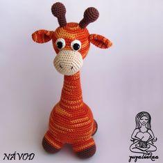 Návod - Žirafka II (hračka) Přehledný návod na háčkovanou žirafu (hračka)  - návod posílám ve formátu pdf - výsledná velikost cca 30 cm