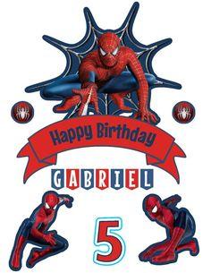 Spiderman Cake Topper Banderin de Hombre Araña Spiderman | Etsy Spiderman Theme Party, Superhero Party, 1st Boy Birthday, Happy Birthday, Spiderman Cake Topper, Festa Pj Masks, Lol Dolls, Cake Toppers, Avengers