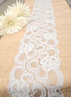 diy burlap wedding arch | Romantic-reception-table-linens-lace-over-burlap.full