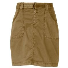 Women's SONOMA Goods for Life™ Twill Utility Skirt, Size: 12, Med Beige