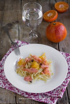 Noodles with Smoked Salmon and Orange