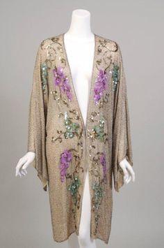 1920's Beaded Cotton Coat