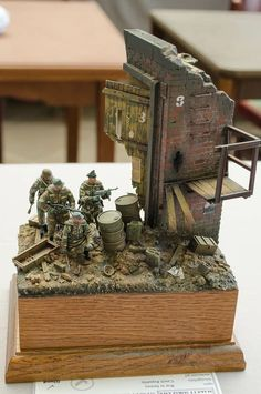 Germans in combat  (1:35 scale)