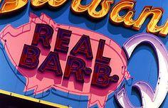 BBQ Neon Signs | BBQ Pig Neon Sign Hand Colored Photo Pork Restaurant Art Decor ...