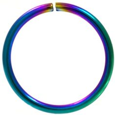 BodyDazz.com - Rainbow Plated Bendable Nose Ring Hoop 18G