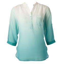 Soft ombré utility blouse | Ricki's