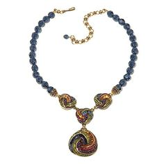 """Heidi Daus """"Sultry Swirl"""" Beaded Crystal Drop Necklace"""