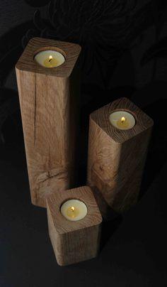 chunky oak candlesticks tea light holders by chunkyoakdesigns 1999 atlas chunky oak hidden home office