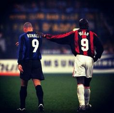 The Battle of the World's Best Strikers at the Milan derby Ronaldo 9 vs George Weah 9