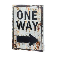 This product only ships to the US and Canada. Theres one way to light up your room with cool vintage style and this wooden sign is it! The classic One Way road sign features bulbs powered by two AA ba                                                                                                                                                                                 More