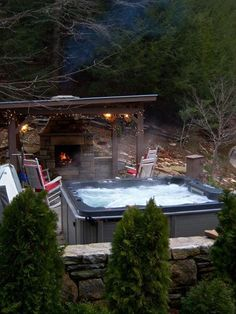 Asheville Vacation Rental - VRBO 134729 - 4 BR Smoky Mountains House in NC, Spa, Pool Table, Gameroom, Waterfalls, Fresh Eggs, Hdtv, Wi-Fi