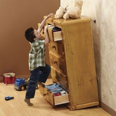 #Childproofing #furniture – tipping hazard