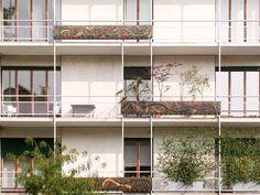 Condominio in via Lanzone, Milano, Italia - Gustavo e Vito Latis e Lucio Fontana