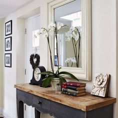 entrance hall.  A console table