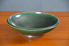 Green Ceramic Serving Bowl, Hand Thrown Porcelain Pottery, Ceramic Serving Bowl, Mixing Bowl, Teal Green, Centerpiece | Caldwell Pottery