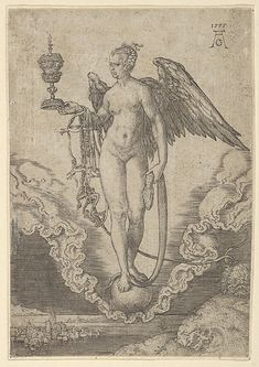 Fortune - Heinrich Aldegrever (after Albrecht Dürer) - 1555 - Engraving