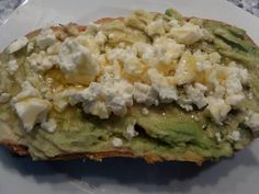 Fast food???...bread avocado feta cheese and apple syrup... #vegetarian