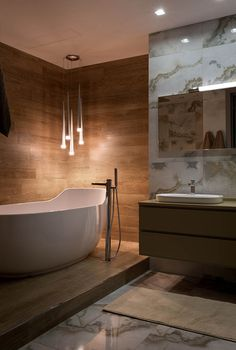 Those lights! and the Tub! Home Interior, Interior Architecture, Architectural Technologist, Home Spa Room, Diy Bathroom, Contemporary Baths, Bathroom Design Luxury, Shower Remodel, Bathroom Inspiration