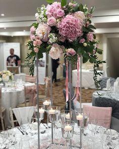 A pretty table centrepiece to start the week .... #talltablecentres #weddingfloristkent #kentflorist #venuestylist #handpickedhotels #flowersandsparkle #sittingbourneflorist #pink #hydrangea #peonies #booknow  #kentbrides #2019bride