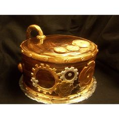 Steampunk Groom's Cake ❤ liked on Polyvore featuring cakes