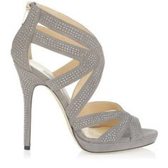 Jimmy Choo 'Collar' Pebble Studded Suede Platform Sandal