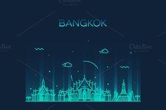 Bangkok skyline (Thailand) by grop on Creative Market