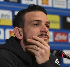 Alessandro Florenzi of Italy speaks to the media during a press conference at Centro Tecnico Federale di Coverciano on March 21, 2018 in Florence, Italy.
