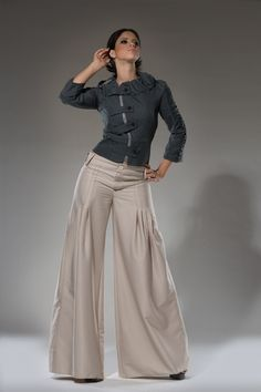 High waist Tan Wide leg women dress pants - $110.00. http://www.youngrepublic.com/women/bottoms/pants-trousers/high-waist-tan-wide-leg-women-dress-pants.html