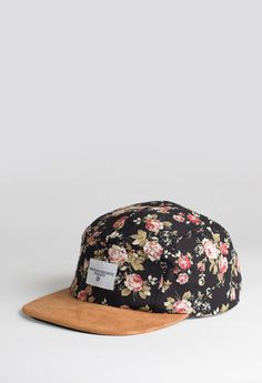 Portland Rose Five Panel Floral Hat by Profound Aesthetic http://profoundco.com/collections/hats/