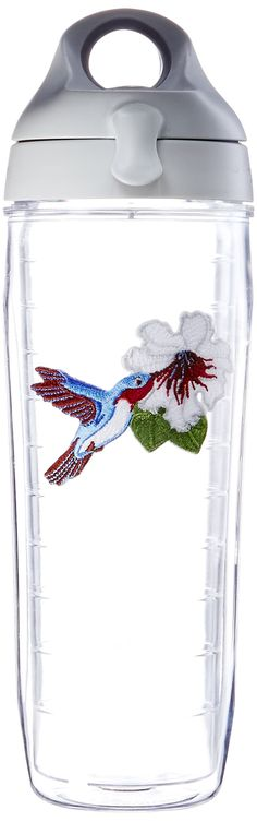 Tervis Water Bottle Blue Hummingbird Keeps Hot Drinks And Cold