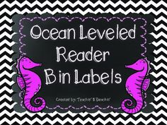 Ocean Themed Leveled Reader Labels-Cute Chevron Ocean Leveled Reader Bin Labels. This product includes labels for A-Z and blank labels. Labels can be used to label leveled reader bins or a book shelf. These labels match the chevron ocean table signs also available through my store!
