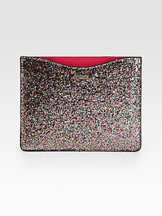 Every iPad needs a great case: @kate spade new york Glitter iPad Sleeve $80