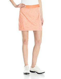adidas Golf Women's Essentials Rangewear Skort, Flash Orange HT, X-Small -- To view further for this item, visit the image link.