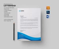 The business corporate business PSD letterhead template are well-organized and editable. The corporate letter Letterhead Sample, Letterhead Format, Letterhead Design, Letterhead Template, Stationery Templates, Brochure Template, Design Templates, Header Design, Visiting Card Templates