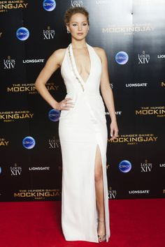Jennifer Lawrence attends the after-party for the world premiere of The Hunger Games: Mockingjay - Part 1 at Victoria House on Nov. 10, 2014, in London, England.