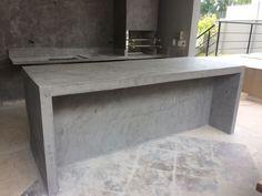 Industrial Kitchen Design, Interior Design Kitchen, Kitchen Decor, Kitchen Sets, Green House Design, Modern House Design, Philippine Houses, Concrete Kitchen, Concrete Furniture