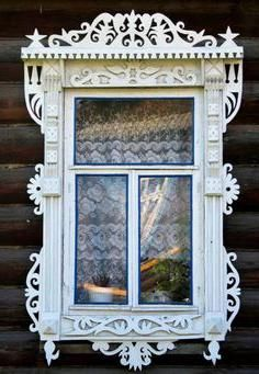 шаблоны резных наличников на окна