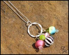 Image result for lariat necklace with lampwork beads