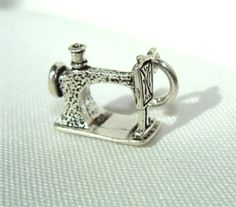 Old Fashion Sewing Machine Sterling CHARM on Etsy by CharmAndChain, $15.95